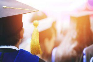 Shot,Of,Graduation,Hats,During,Commencement,Success,Graduates,Of,The